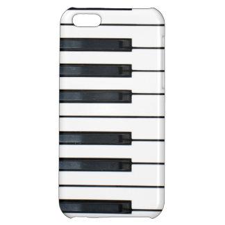Caso del iPhone 5C del teclado de piano