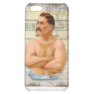 Caso del iPhone 5C del vintage del De hombres-Man