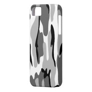 Caso del iPhone 5G del camuflaje del gris y del iPhone 5 Fundas