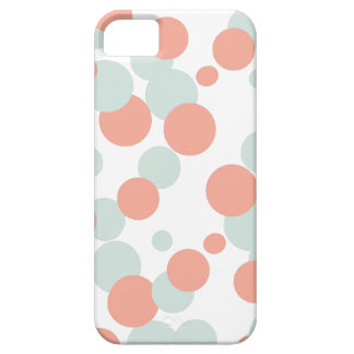 Caso del iPhone 5s de las burbujas del coral y de Funda Para iPhone 5 Barely There