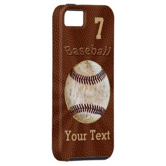 Caso del iPhone 5S del béisbol con SU NÚMERO y iPhone 5 Carcasas