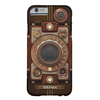 Caso del iPhone 6/6S de la cámara #1C de Steampunk Funda Para iPhone 6 Barely There