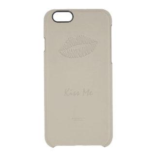 Caso del iPhone 6/6s del beso del lápiz labial del Funda Clearly™ Deflector Para iPhone 6 De Uncommon