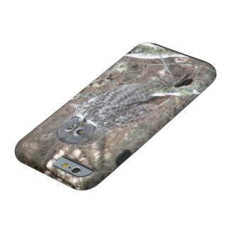 Caso del iPhone 6/6s del búho de gran gris Funda Resistente iPhone 6
