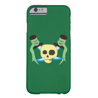 Caso del iPhone 6/6s del cráneo y de las espadas Funda Barely There iPhone 6