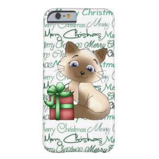 Caso del iPhone 6/6s del gato del navidad apenas Funda Barely There iPhone 6