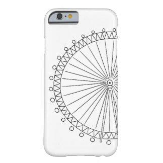 Caso del iPhone 6/6s del ojo de Londres Funda Para iPhone 6 Barely There