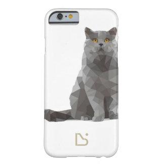 caso del iPhone 6/6s - diseño deconstructed - gato Funda De iPhone 6 Barely There