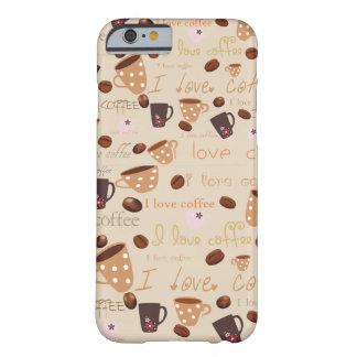 "caso del iPhone 6 ""amo el café "" Funda De iPhone 6 Barely There"
