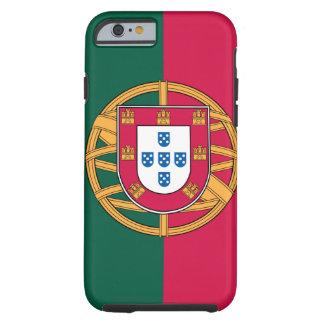 caso del iPhone 6, bandera portuguesa Funda De iPhone 6 Tough