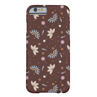 caso del iPhone 6 - Brown floral Funda Barely There iPhone 6