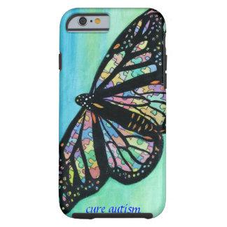 caso del iPhone 6 con arte de la mariposa de Jann Funda Resistente iPhone 6