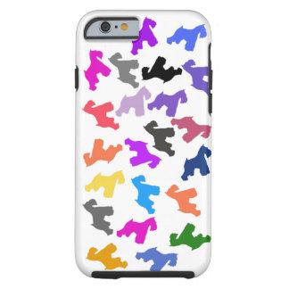 caso del iPhone 6 con diseño del Schnauzer Funda Para iPhone 6 Tough