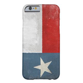 caso del iPhone 6 con la bandera apenada de Tejas Funda De iPhone 6 Barely There