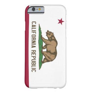 caso del iPhone 6 con la bandera de California Funda De iPhone 6 Barely There