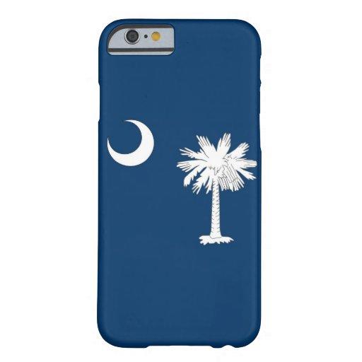caso del iPhone 6 con la bandera de Carolina del Funda De iPhone 6 Barely There