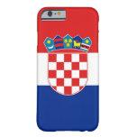 caso del iPhone 6 con la bandera de Croacia Funda Barely There iPhone 6