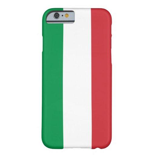 caso del iPhone 6 con la bandera de Italia Funda De iPhone 6 Barely There