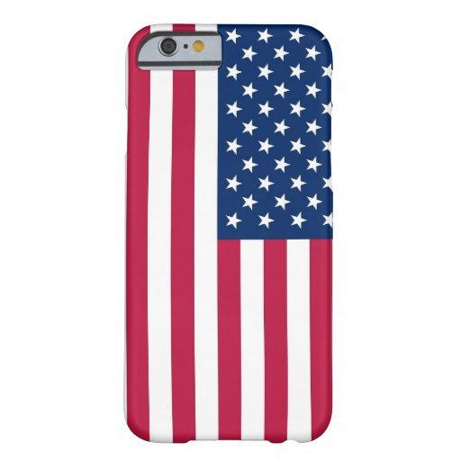 caso del iPhone 6 con la bandera de los E.E.U.U. Funda De iPhone 6 Barely There