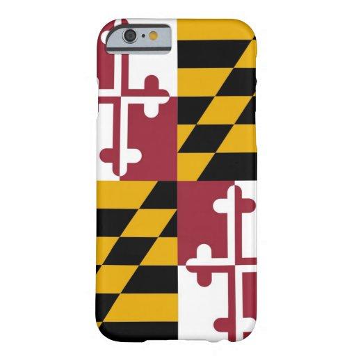 caso del iPhone 6 con la bandera de Maryland Funda De iPhone 6 Barely There