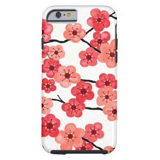 caso del iPhone 6 con las flores de cerezo Funda De iPhone 6 Tough