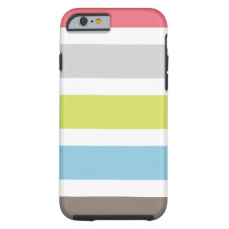 caso del iPhone 6 con las rayas coloridas Funda De iPhone 6 Tough