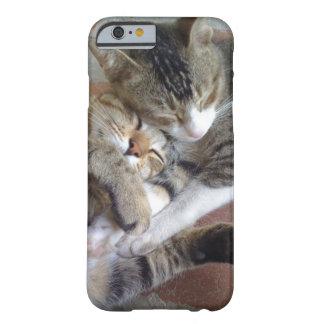 caso del iPhone 6 con los gatitos napping Funda De iPhone 6 Barely There