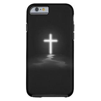 caso del iPhone 6 - cruz cristiana en la niebla Funda De iPhone 6 Tough