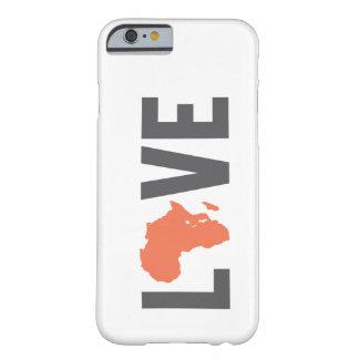 Caso del iPhone 6 de África del amor Funda De iPhone 6 Barely There