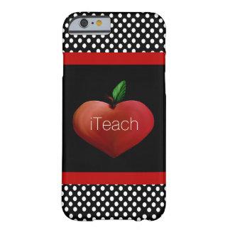 Caso del iPhone 6 de Apple del profesor rojo del Funda Barely There iPhone 6