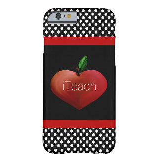 Caso del iPhone 6 de Apple del profesor rojo del Funda De iPhone 6 Barely There