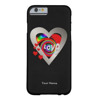"""Caso del iPhone 6 de Barely There del """"corazón Funda Barely There iPhone 6"""