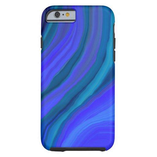 Caso del iPhone 6 de CHAKRA_BLUE (garganta) Funda De iPhone 6 Tough