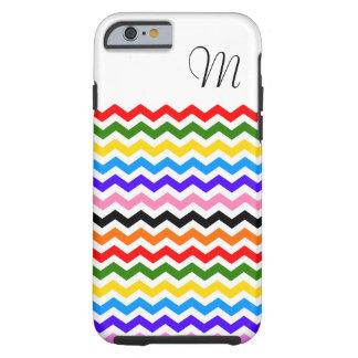 Caso del iphone 6 de Chevron del arco iris Funda De iPhone 6 Tough