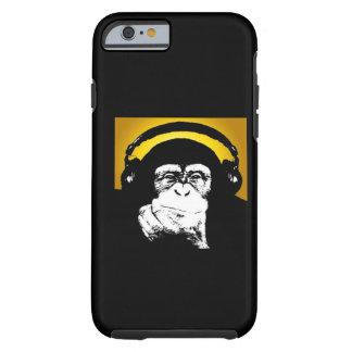 Caso del iPhone 6 de DJ del mono Funda De iPhone 6 Tough