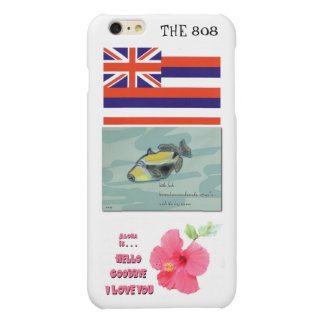 CASO del iPhone 6 de Hawaii 808 con los iconos del