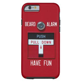 Caso del iPhone 6 de la alarma de la barba Funda De iPhone 6 Tough