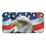 Caso del iPhone 6 de la bandera americana de Eagle Funda De iPhone 6 Barely There