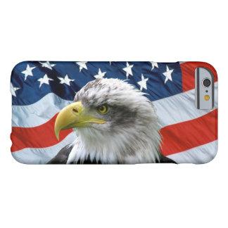 Caso del iPhone 6 de la bandera americana de Eagle Funda Para iPhone 6 Barely There