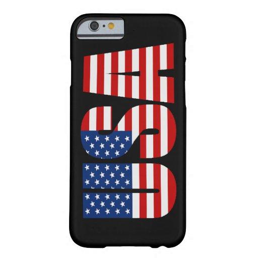 Caso del iPhone 6 de la bandera americana de los Funda De iPhone 6 Barely There