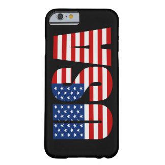 Caso del iPhone 6 de la bandera americana de los Funda Para iPhone 6 Barely There