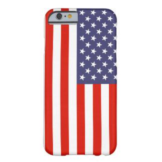 Caso del iPhone 6 de la bandera americana Funda Barely There iPhone 6