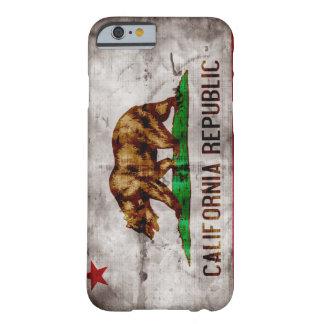 Caso del iPhone 6 de la bandera de California del Funda Para iPhone 6 Barely There