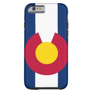 Caso del iPhone 6 de la bandera de Colorado