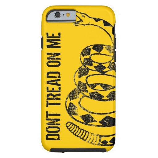 Caso del iPhone 6 de la bandera de Gadsden Funda De iPhone 6 Tough