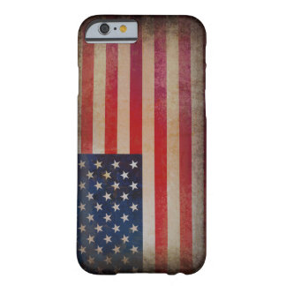 Caso del iPhone 6 de la bandera de los E.E.U.U. Funda De iPhone 6 Barely There