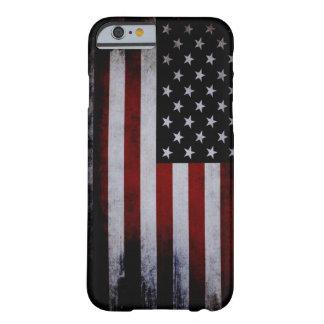¡Caso del iPhone 6 de la bandera de los E.E.U.U. Funda Barely There iPhone 6