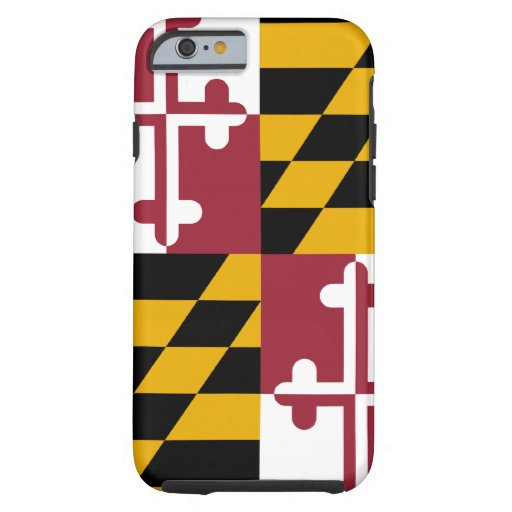 Caso del iPhone 6 de la bandera de Maryland Funda De iPhone 6 Tough