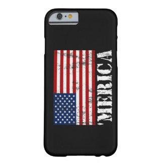 Caso del iPhone 6 de la bandera de MERICA E.E.U.U. Funda De iPhone 6 Barely There