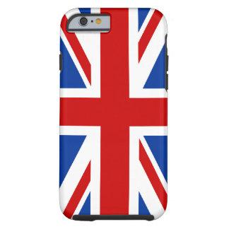 Caso del iPhone 6 de la bandera de Union Jack Funda De iPhone 6 Tough